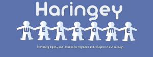 Haringey Welcome logo - promoting dignity and respect for refugees and migrants in our borough